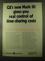 1973 General Electric Mark III Computer Ad - Control
