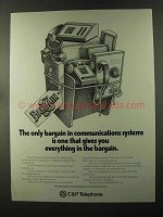 1973 C&P Telephone Ad - Bargain in Communications