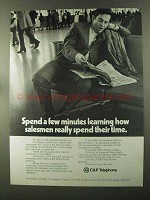 1973 C&P Telephone Ad - How Salesmen Spend Time