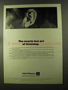 1973 United Telecom Ad - Lost Art of Listening