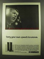 1973 Shure Vocal Master Sound System Ad - Insurance