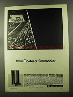 1973 Shure Vocal Master Sound System Ad - Ceremonies