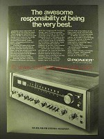 1973 Pioneer SX-828 AM-FM Stereo Receiver Ad