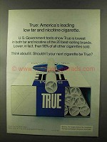 1973 True Filter Cigarettes Ad - America's Leading