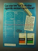 1973 Doral Cigarettes Ad - Measure up To