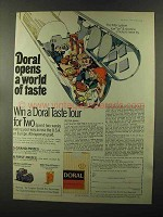 1973 Doral Cigarettes Ad - Opens a World of Taste