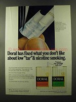 1973 Doral Cigarettes Ad - Low Tar & Nicotine