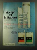 1973 Doral Cigarettes Ad - Accept No Imitations