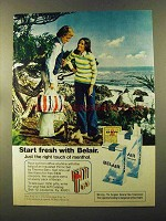 1973 Belair Cigarettes Ad - Start Fresh