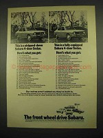 1973 Subaru 4-Door Sedan Ad - Stripped-Down