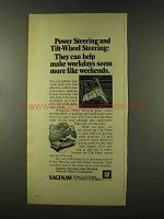1973 GM Saginaw Power Steering & Tilt-Wheel Steering Ad