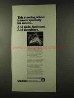 1973 GM Tilt-Wheel and Tilt & Telescope Steering Ad