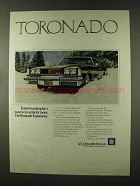 1973 Oldsmobile Toronado Ad - Settle for More