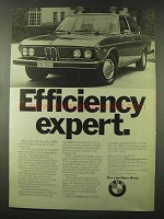 1973 BMW Car Ad - Efficiency Expert