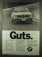 1973 BMW Car Ad - Guts