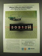 1973 Chrysler Corporation Cars Ad - Reduced Maintenance