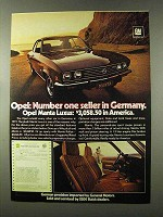 1973 Opel Manta Luxus Ad - Number One in Germany