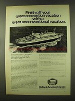 1973 Holland America Cruises Ad - Finish Off Convention