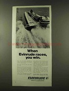 1973 Evinrude Outboard Motors Ad - Races, You Win