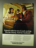 1973 United Air Lines Ad - Arnold Palmer