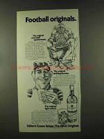 1973 Usher's Scotch Ad - Football Originals