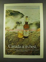 1973 Canadian Mist Whisky Ad - At Its Best