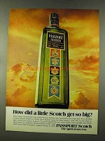 1973 Passport Scotch Ad - How Did Little Get So Big