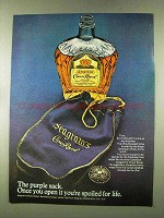 1973 Seagram's Crown Royal Ad - The Purple Sack
