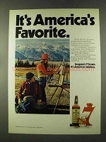 1973 Seagram's 7 Crown Whiskey Ad - America's Favorite