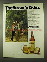 1973 Seagram's 7 Crown Whiskey Ad - Seven 'n Cider