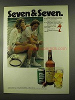 1973 Seagram's 7 Crown Whiskey Ad - Seven & Seven