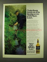 1973 Seagram's 100 Pipers Scotch Ad - Charles Rennie
