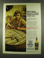 1973 Seagram's 100 Pipers Scotch Ad - Robert Hunter