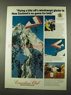 1973 Canadian Club Whisky Ad - Kite in New Zealand