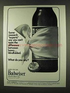 1973 Budweiser Beer Ad - Some Resarch Experts
