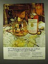 1973 Martell Cognac Ad - Washington and Lafayette