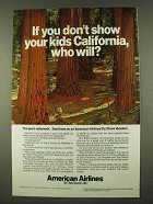 1973 American Airlines Ad - Show Kids California