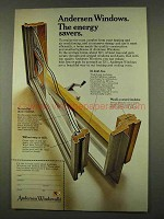 1973 Andersen Windowalls Ad - The Energy Savers