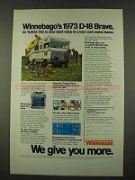 1973 Winnebago D-18 Brave Motor Home Ad - Best Value