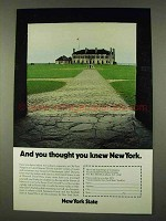 1973 New York State Tourism Ad - You Thought You Knew