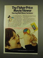 1973 Fisher-Price Movie Viewer Ad - Disney Cartoons