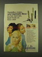 1973 Maybelline Liquimatic Brow Color Ad - Automatic