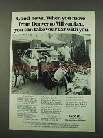 1973 GMAC Financing Ad - When You Move