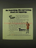 1973 Thrifty Rent-A-Car Ad - No Hunting. No Carrying