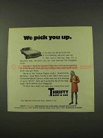 1973 Thrifty Rent-A-Car Ad - We Pick You Up