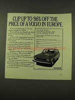 1973 Volvo 142 Car Ad - Clip Up to 9.6% Off