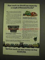 1973 Toyota Cars Ad - How Much Should You Expect