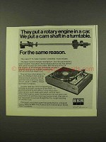 1973 BSR 710 and 810 Turntables Ad - Put a Cam Shaft In
