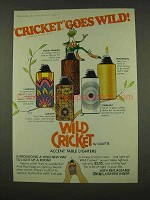 1973 Wild Cricket Cigarette Lighters Ad - Charisma