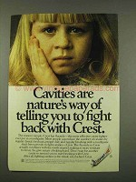 1973 Crest Toothpaste Ad - Cavities Are Nature's Way